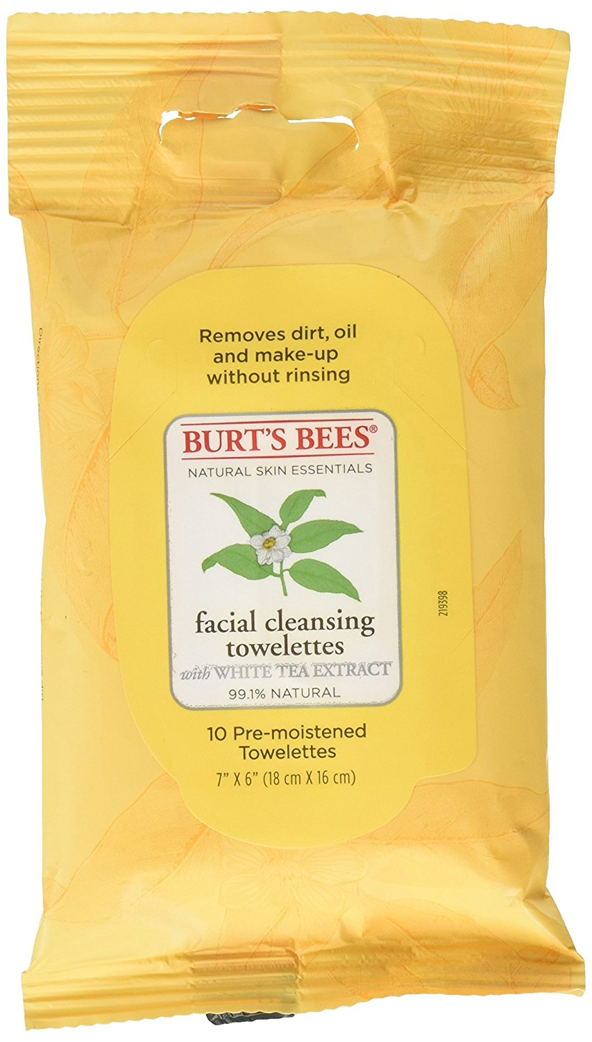 Burts Cleansing Tissue Wh Size 10ct Burts Cleansing Tissue Wh Tea 10ct
