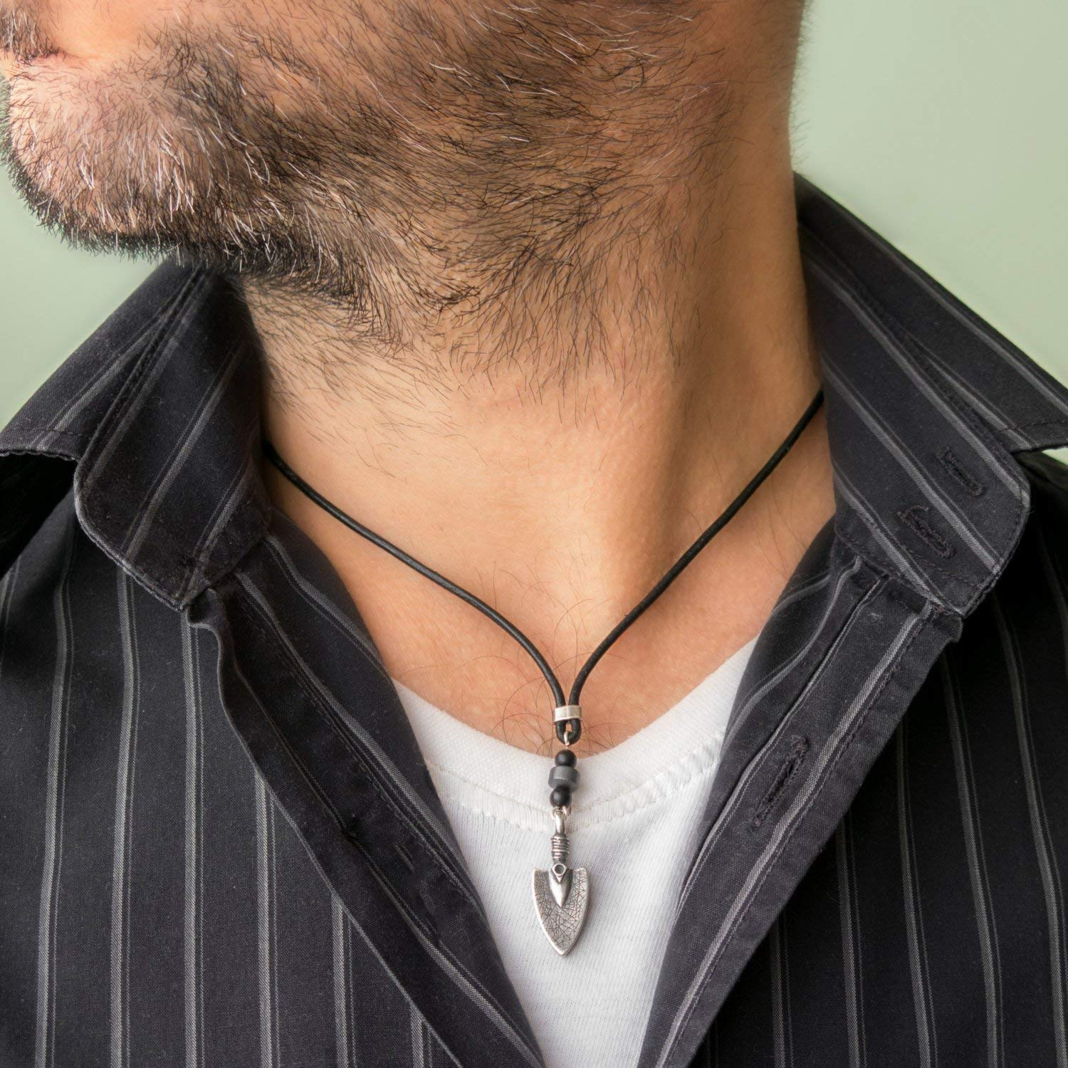 Men's Necklace - Men's Choker Necklace - Men's Leather Necklace - Men's Jewelry - Guys Jewelry - Guys Necklace - Necklaces For Men - Jewelry For Men - Male Jewelry - Male Necklace