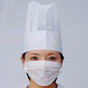disposable white paper chef cap paper cook hat