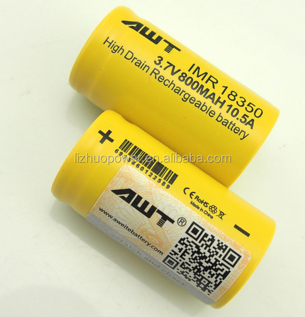 AWT 18350 800mah lithium batteries 36v 9000mah lithium polymer battery 401230 100mah 3.7v for zero mod clone malaysia