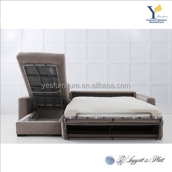 Wooden L Shaped Sofa Bed With Storage