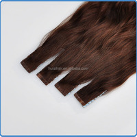 Using raw human extensions materials to make hair products looking nice real remy indian wet and wavy tape hair