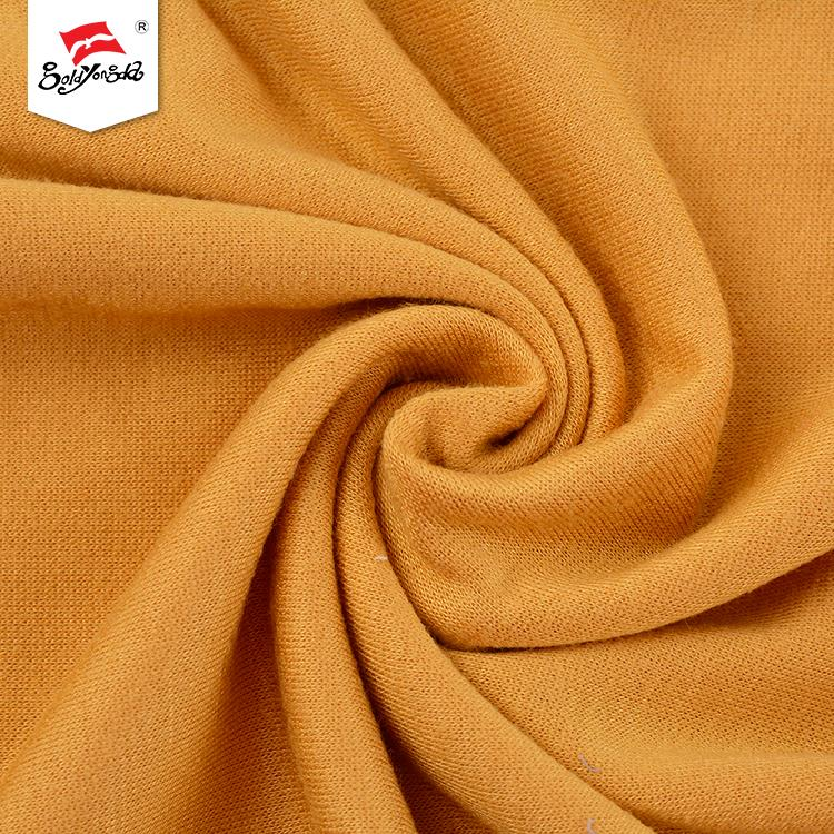 Professional cheap champagne color knitted beautiful luxury wholesale stretch terry cloth fabric