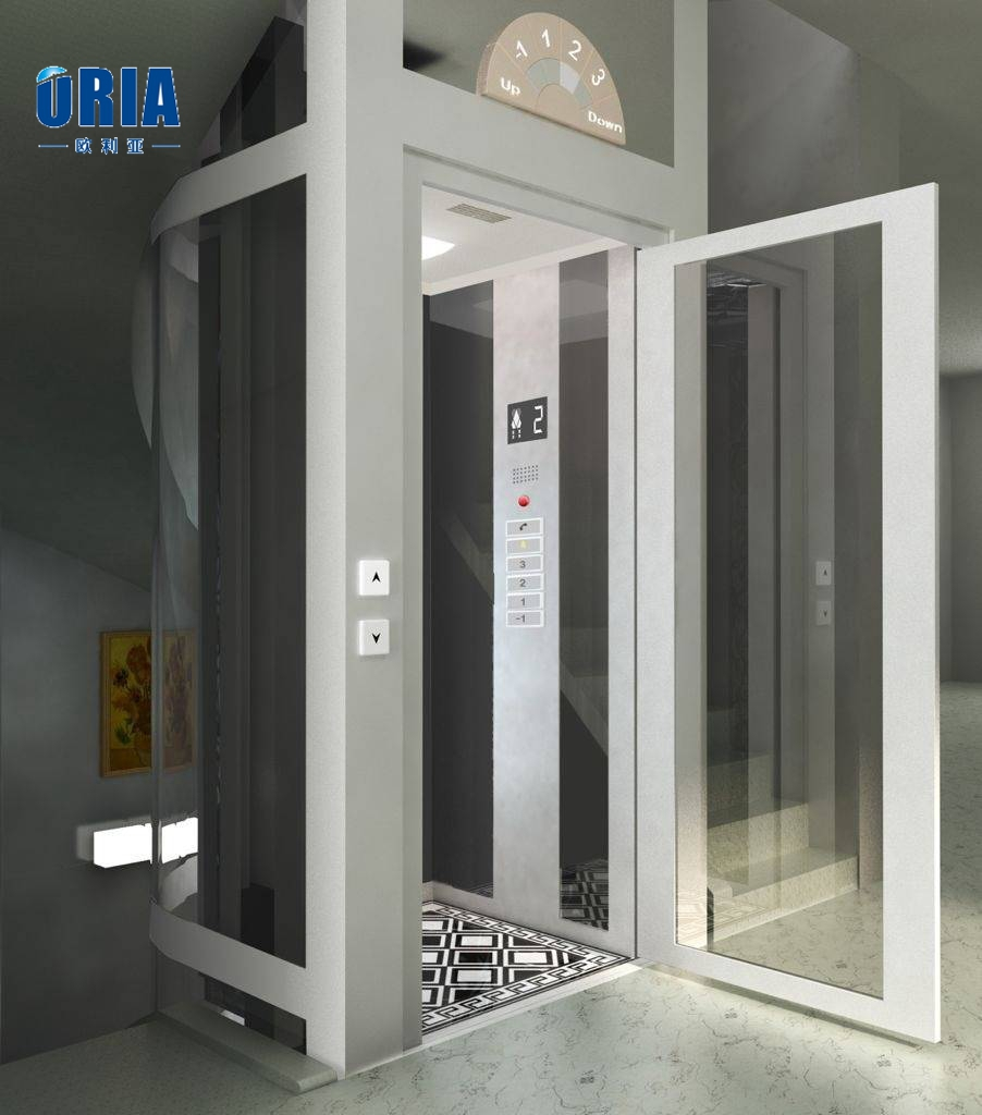 Hydraulic home elevator residential lift villa elevator for Cheap home elevators