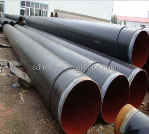 AWWA C200 C210 black water spiral welded steel pipe for pipeline conveyance system