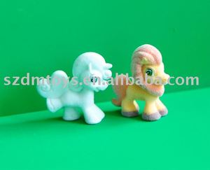 PVC flocking animal toy-horse figurine