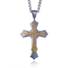 Wholesale Layered Cross Gold Mens Silver Plated Big Pendant Handmade Necklace For Men