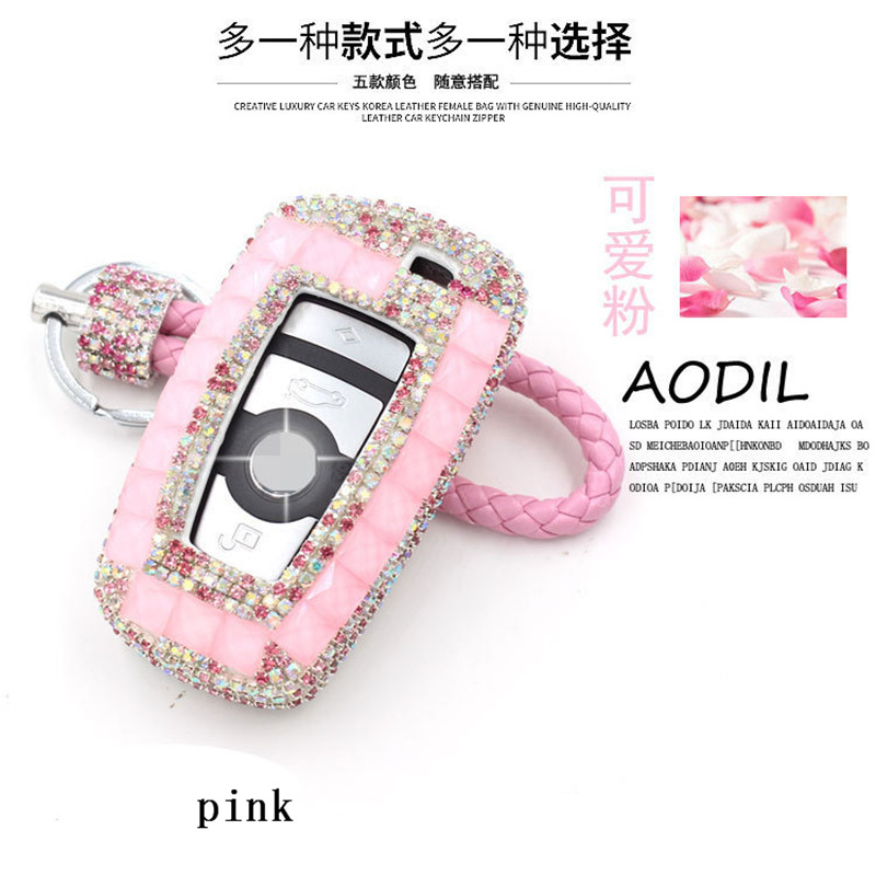 fashion style 4 button ABS+crystal rhinestone case cover for B-M-W GT 525li320li 3 5 7 Series X3 <strong>KEY</strong>