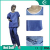 cheap hospital blue lab coat/qualited hospital work clothing labcoat manufacture/wholesale medical scrub suit