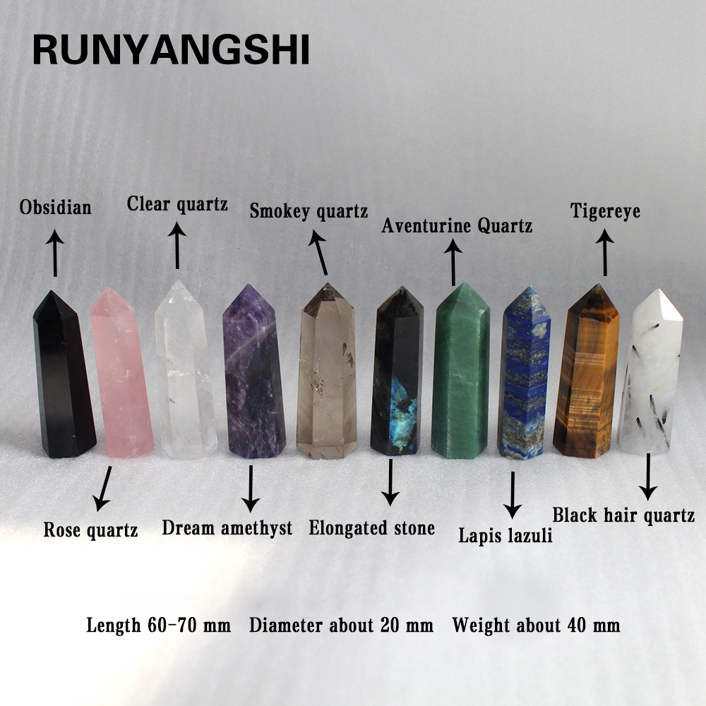 high quality Natural Healing Stones Clear Rose Quartz crystal Wand Crystal Point