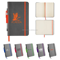 HARD COVER ELASTIC NOTEBOOK college ruled spiral notebooks with soft cover for school
