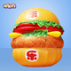 2017 Hot Sale Giant Inflatable Hamburger Burger Food For Advertising