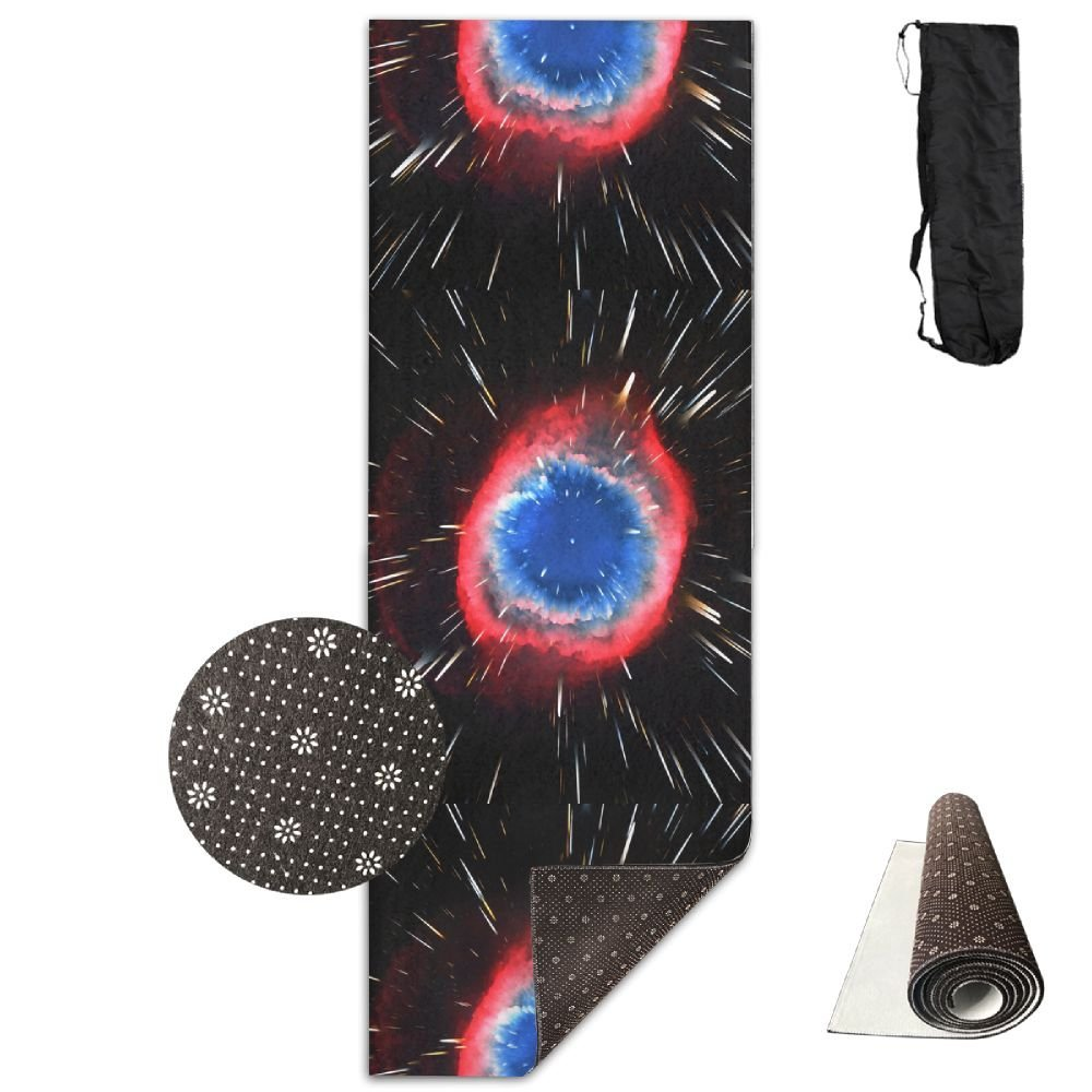 The Space Stars Nebula Explosion Deluxe Yoga Mat Aerobic Exercise Pilates