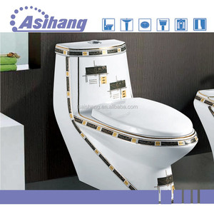 china factory colored toilet bowl with luxury toilet