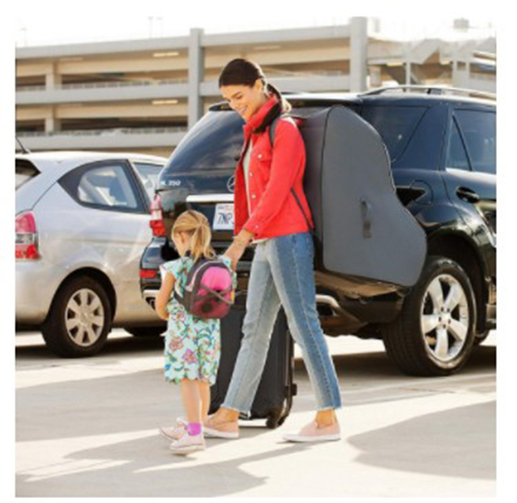 Baby car seat travel bag with Wheels and Backpack Straps for Airport Travel
