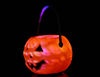 11 cm and 17 cm Plastic halloween pumpkin led candy bucket