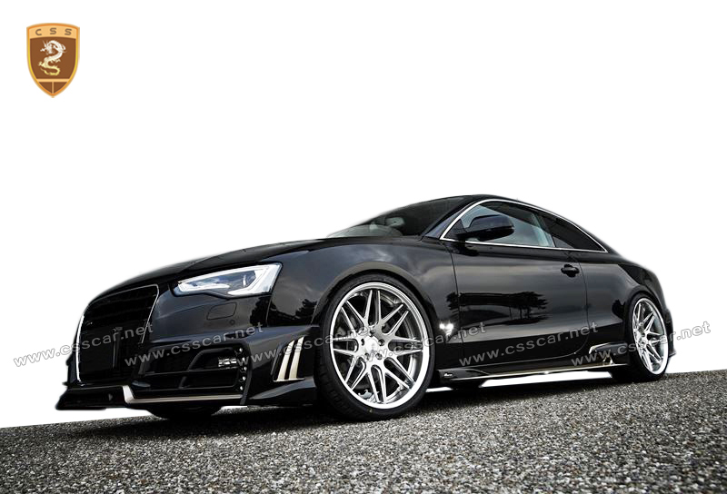 On promotion rw style tuning car body kit for audi A5 in frp+cf