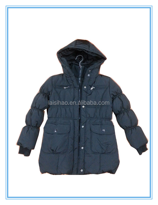 Girl's winter padding jacket finely processed
