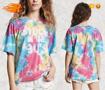Women S Latest Modern Design Custom Print Tie Dye T Shirt Buy Print T Shirt Tie Dye T Shirt Women S Custom T Shirt Product On Alibaba Com