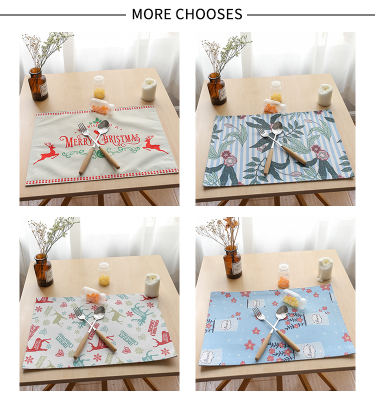 Ropa de mesa de sublimación blanco tela de hoja de palma de laminado mantel