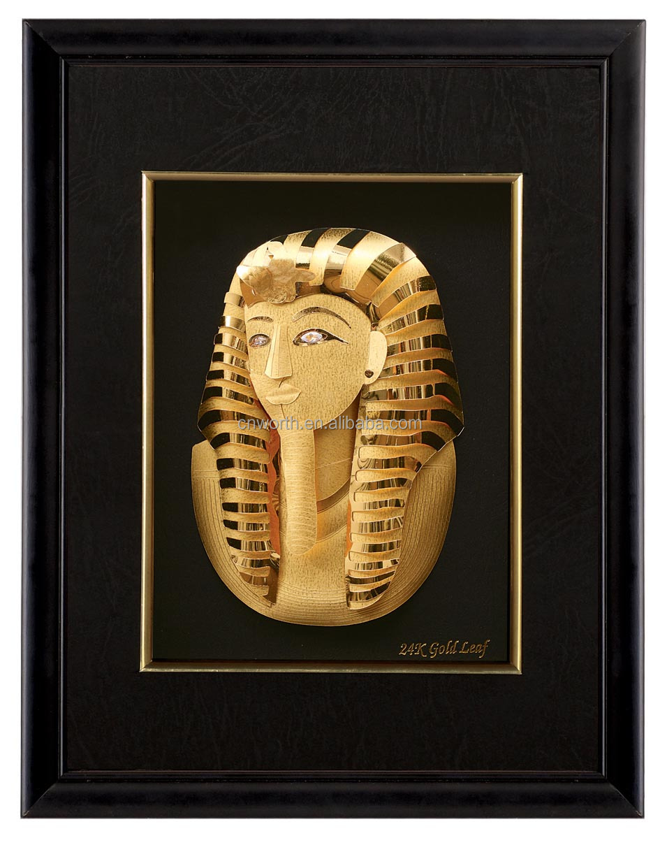 Wall Decoration Picture Frames 3d Queen Egyptian Papyrus Art ...