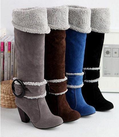 ec255e0aaae4 Большой размер 34 - 43 зимние ботинки снега для женщин на высоких ...