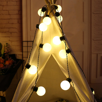 reliable Quality Holiday Light 40 LEDs Festoon Ball String lighting Garden Patio Bistro Bedroom LED Centerpiece light string