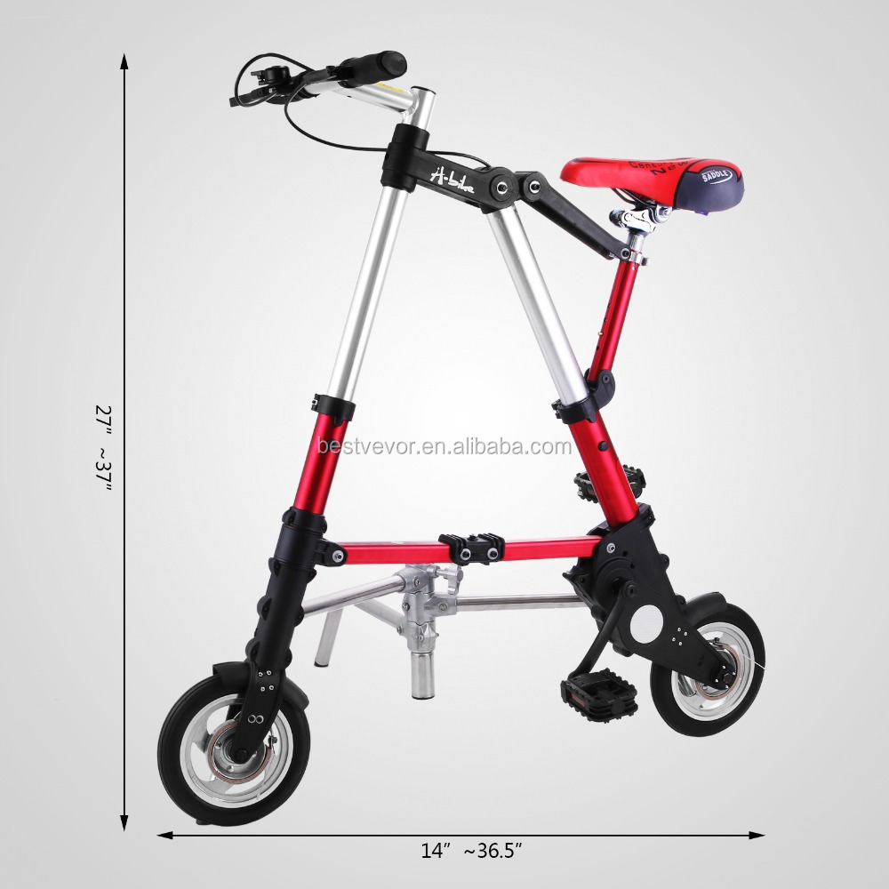 "8"" Inch Folding Mini Bike Travel <strong>Bicycle</strong> City Town Foldable <strong>Bicycle</strong> Red"