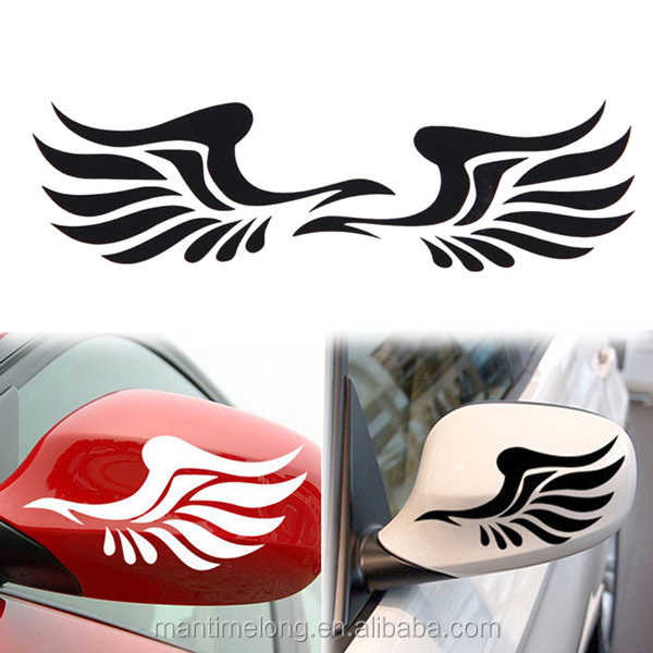 Personality Fire Wings Pattern Car Mirror Sticker Car Decoration