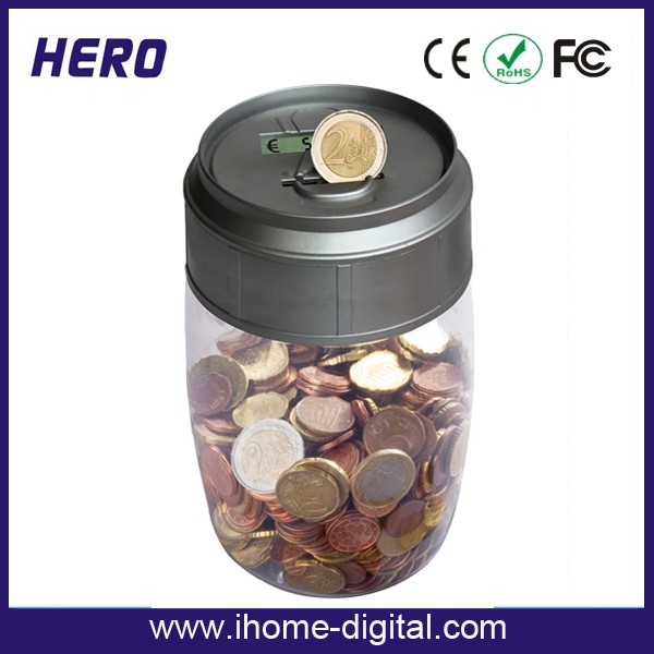New digital money counting jar sorter walmart ceramic piggy banks money jar with lcd display - Coin sorting piggy bank ...
