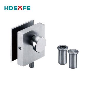 Stainless Steel Bottom Door Lock For Folding Glass Door With Good ...