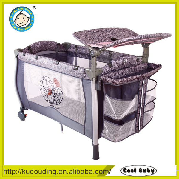Aluminium Baby Playing Bed With Net