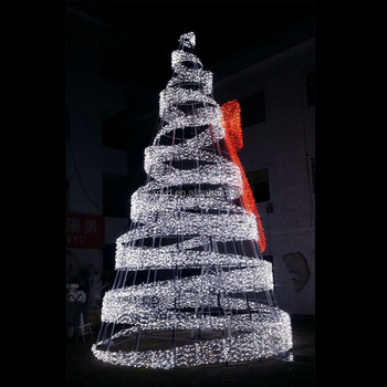 hot sale outdoor giant led christmas tree ornaments with large bowknot