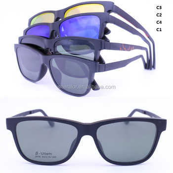fa1255a7d2 Hotsales ULTEM prescription eyeglasses with magnetic clip-on polarized lens