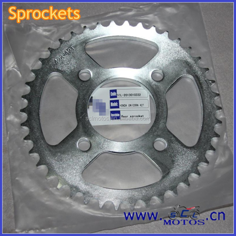 SCL-2013010332 Spare Parts For HONDA UNICORN Chain And Sprocket Kits