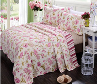 high quality competitive price printed flower pattern cubrecamas quilt
