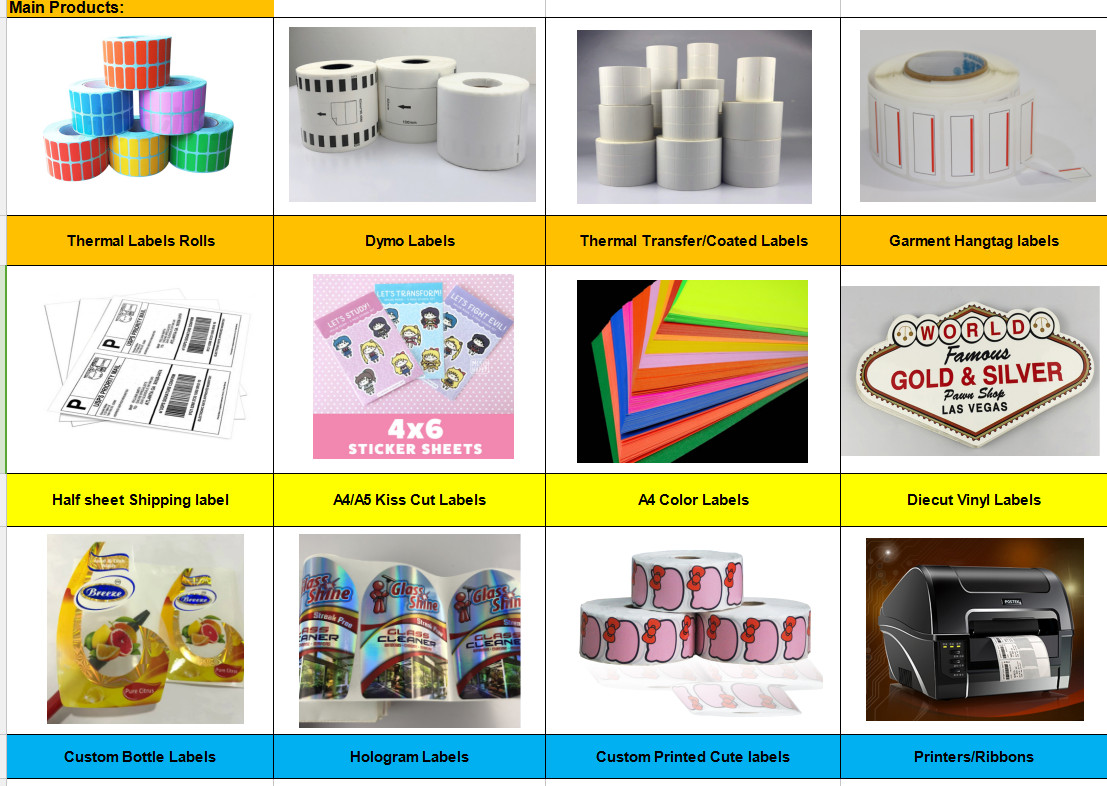 Wholesale color label rolls 4x6 color label roll stickers