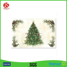 You own brand disposable waterproof christmas table mat plastic placemat