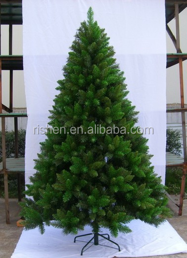 Top Quality 7FT Green sharper leave pvc christmas tree