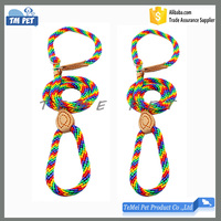 Dog Traction Rope Rainbow Color Braided Dog Leashes Supplier