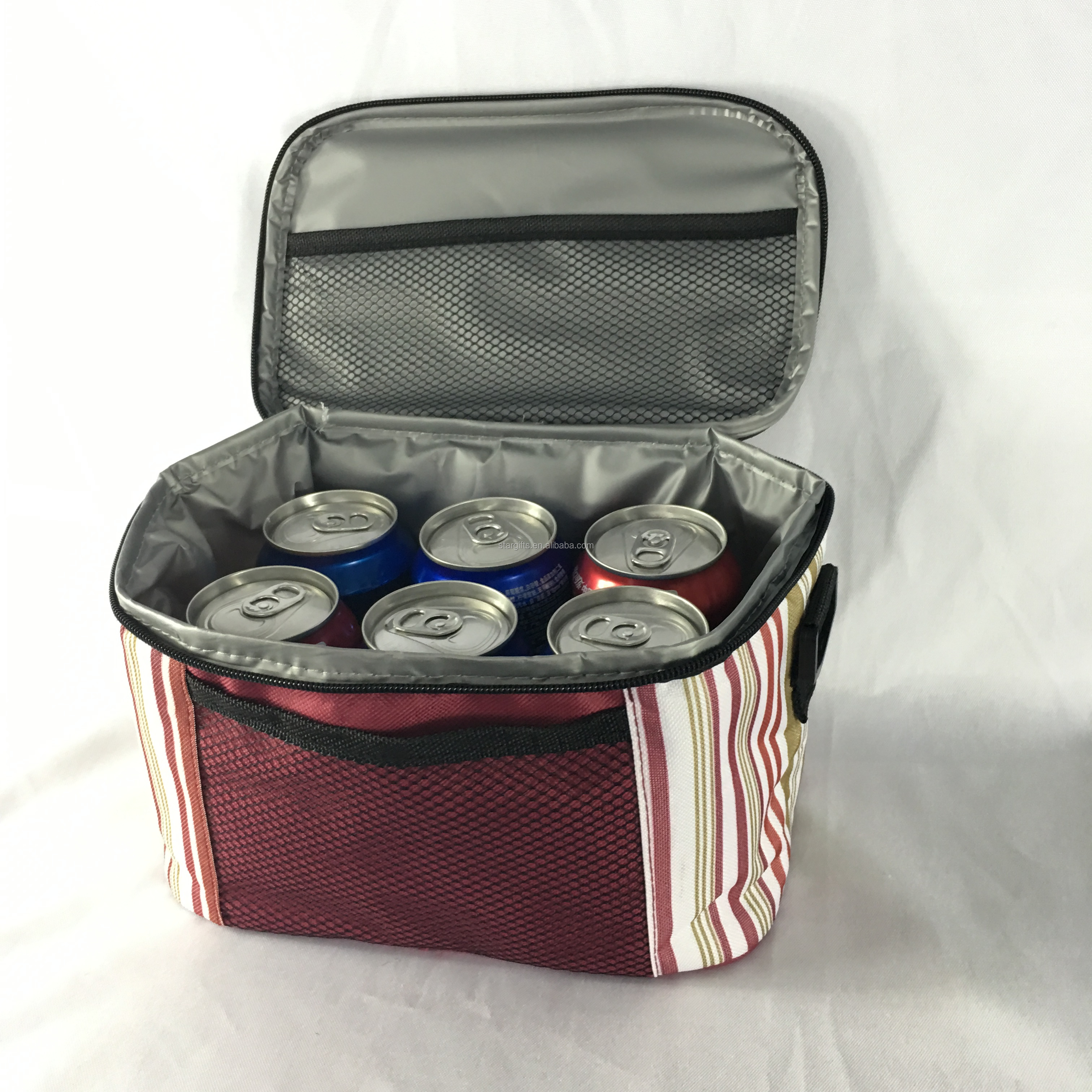 Factory Made Portable Practical Cans Cooler Bags 4 6 Cups Insulated Drinks Beverage Carrier for Milk Tea