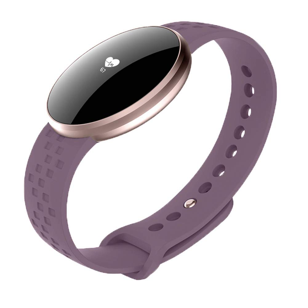 AIBOTY Smart Bracelet, IP67 Waterproof Bluetooth Fitness Tracker,Heart Rate Monitor, Sleep Monitoring Call SMS Social Reminder Watch, for Android and iOS,Purple