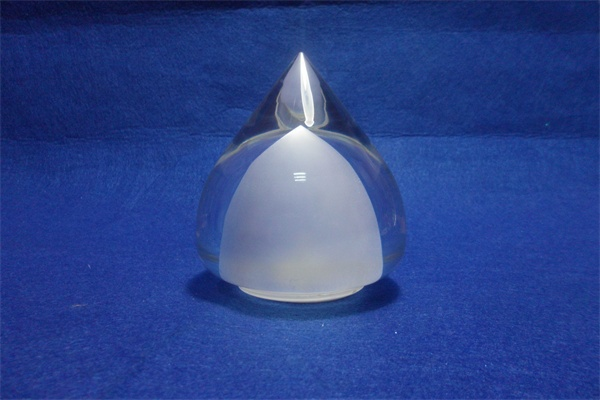 peach shape acrylic led table lamp