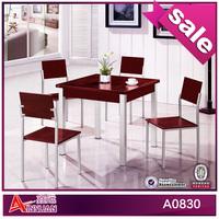 A0830 lastest design korean fancy solid wood dining tables uk