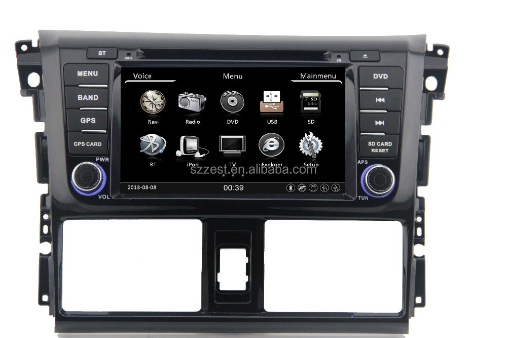 wholesale alibaba DVD gps navigation BT FM AM player 3G, for toyota yaris 2016/