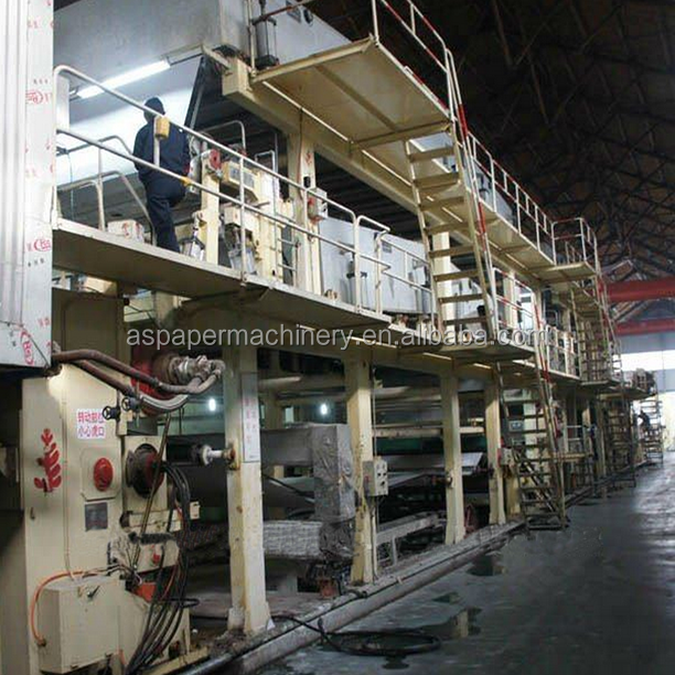China Wheat Straw Paper / corrugated paper Making Machinery from waste paper