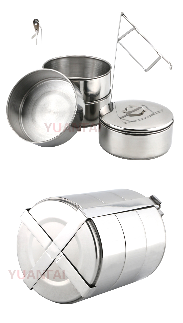 Stainless steel portable lunch box food carrier hand pot food container Tiffin box