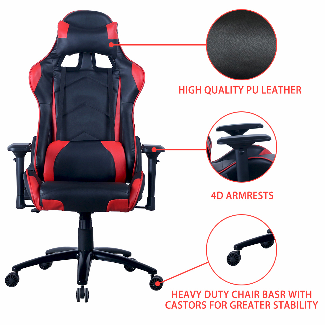 Y-2689 Modern heated ergonomic gaming chair racing style computer gamer chair for racing
