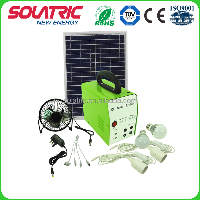 DC 30W 12V high performance outdoor solar system for bulb lighting