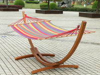Wooden Hammock Stand With Canopy